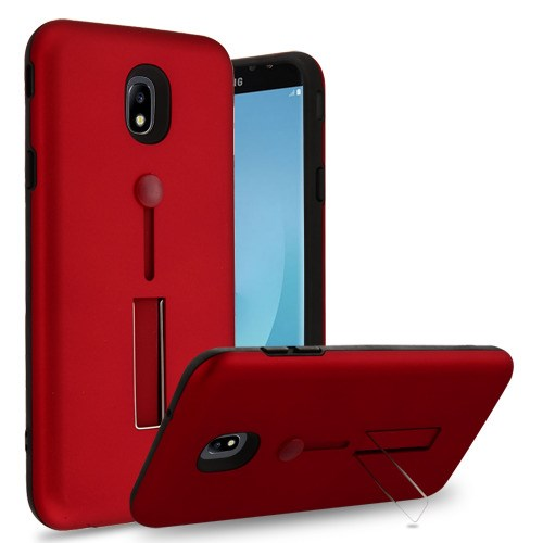 Best Samsung Galaxy J7 Refine/Star/Aero 2018 Finger Grip Kickstand Case - Aces Wireless