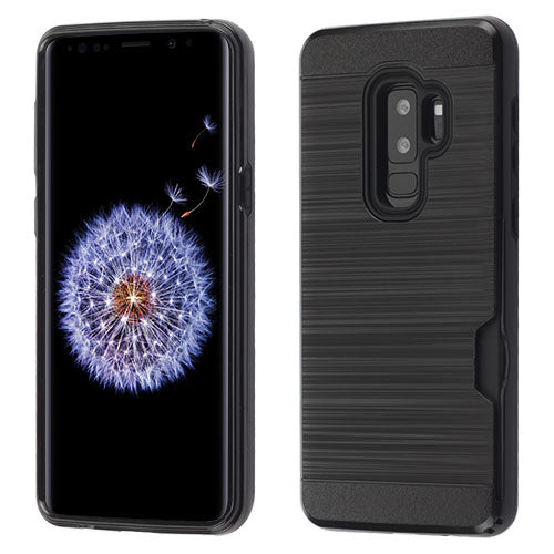 Samsung Galaxy S9 Plus Brushed Card Wallet Case - Aces Wireless