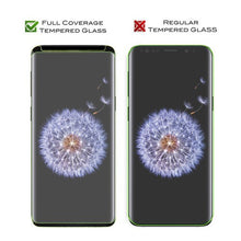 Samsung Galaxy S9 Full Coverage Tempered Glass Screen Protector/Black - Aces Wireless