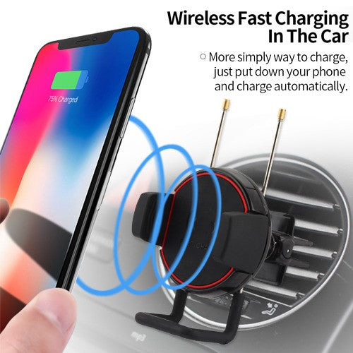 Wireless Car Charger Air Vent Phone Holder Fast Charging - Aces Wireless
