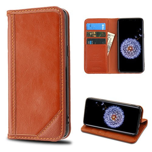 Best Samsung Galaxy s9 Plus Genuine Leather Case Top Seller - Aces Wireless