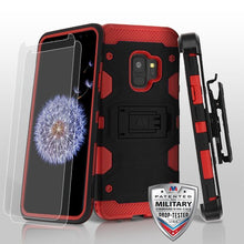 Samsung Galaxy s9 3-in-1 Case Tempered Glass Kickstand Top Seller - Aces Wireless