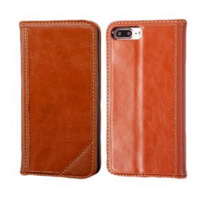 iPhone 8 Plus/7 Plus Genuine Leather Wallet Case - Aces Wireless