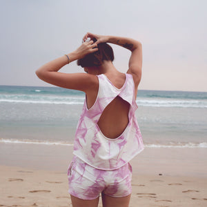 tiedye cotton beach openback top