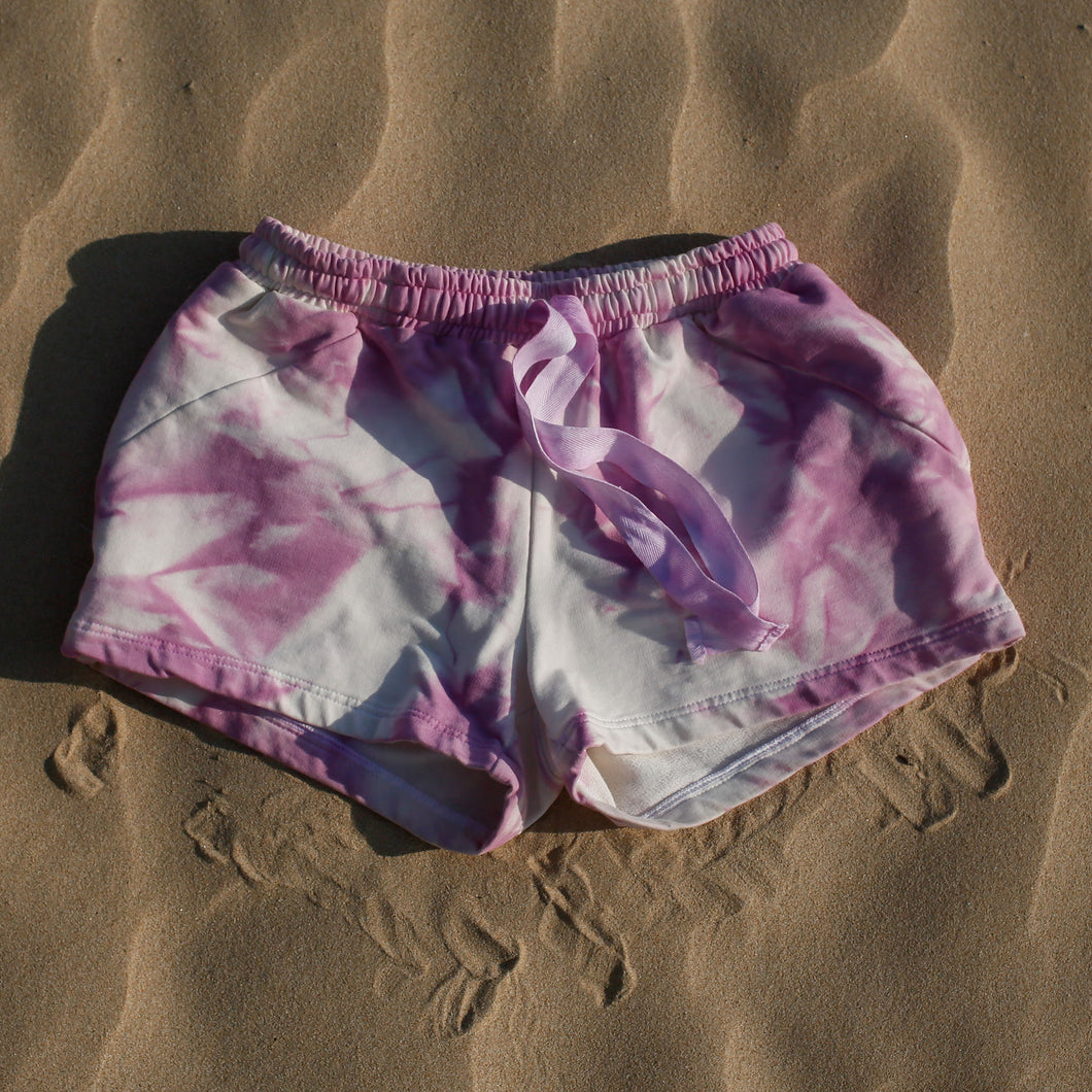 tiedye cotton beach shorts