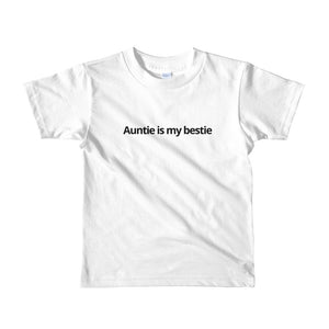 Auntie is my bestie kids t-shirt