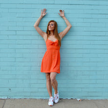 Load image into Gallery viewer, Orange Button Dress