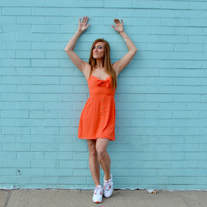 Orange Button Dress