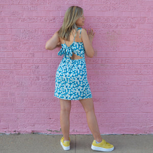 Teal Daisy Dress