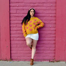 Load image into Gallery viewer, Pink Heart Sweater