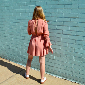 Rose Fringe Dress