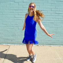 Load image into Gallery viewer, Blue Fringe Dress