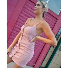 Load image into Gallery viewer, Blush Button Dress