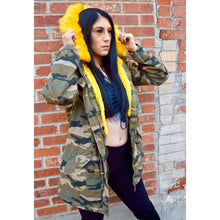Load image into Gallery viewer, Yellow Pop Camo Jacket