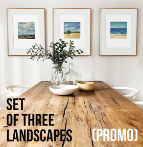 SET OF 3 LANDSCAPES