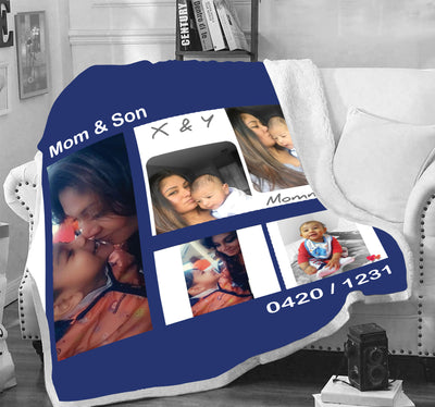 Excluse Family Blanket With Your Photo
