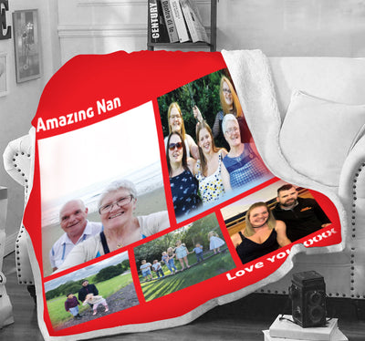 Premium Grandparents Blanket With Your Photo - Ustad Home