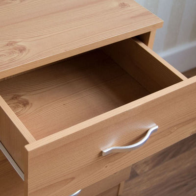 Bedside Cabinet 3 Drawer with Metal Handles and Runners - Ustad Home