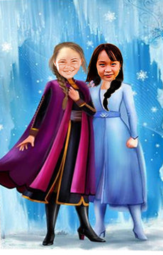 Anna and Elsa - Ustad Home