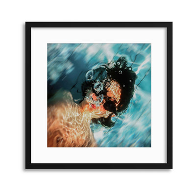 A Cute Little Fish by Inna Blar Ross Framed Print - Ustad Home