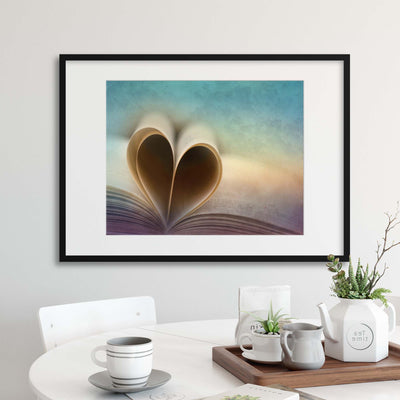 A Love Story by Marcus Hennen Framed Print - Ustad Home
