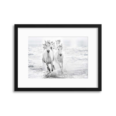 Running in the Sea by Lucie Bressy Framed Print - Ustad Home