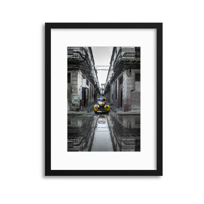 Classic Old Car in Havana, Cuba by Svetlin Yosifov Framed Print - Ustad Home