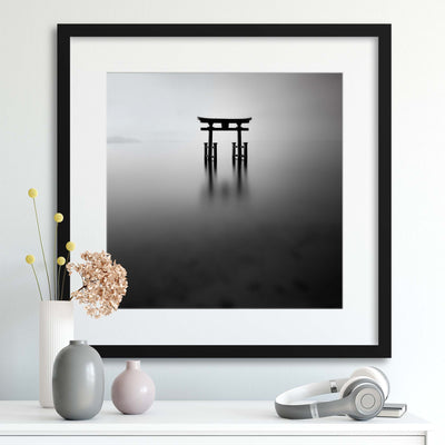 Floating Torii by Yancho Sabev Framed Print - Ustad Home