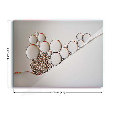 Golden Rings by Heidi Westum Glass Print - Ustad Home