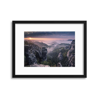 Sunrise on the Rocks by Andreas Wonisch Framed Print - Ustad Home