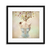Girl of the Flower Garden by Kiyo Murakami Framed Print - Ustad Home