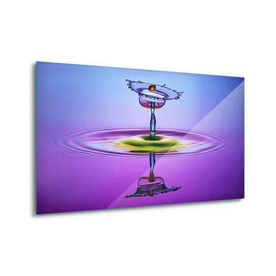 Chalice Colors Full by Muhammad Berkati Glass Print - Ustad Home