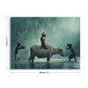 Water Buffalo by Vichaya Canvas Print - Ustad Home