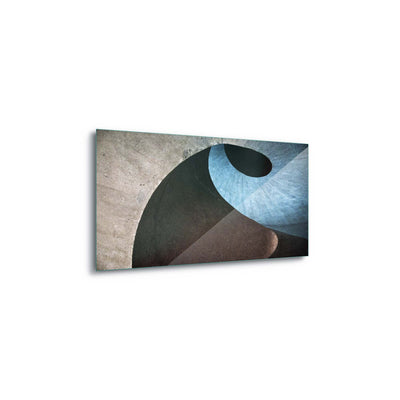 Concrete Wave by Linda Wride Glass Print - Ustad Home