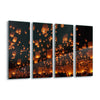 Floating Lanterns by Vichaya Glass Print - Ustad Home