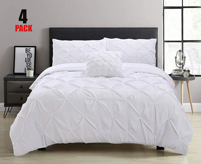 Pinch Pleat Pintuck Duvet Cover Set - Ustad Home