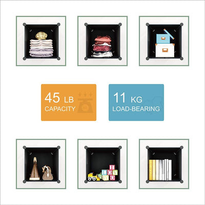 Portable Wardrobe Multifunction Plastic Storage Shelves - Ustad Home