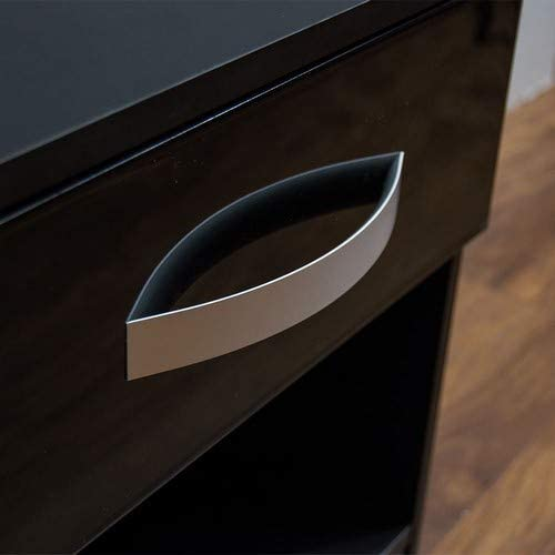 High Gloss Drawer Bedside Cabinet - Ustad Home