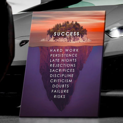 "Powerful ""Success Island"" Canvas"