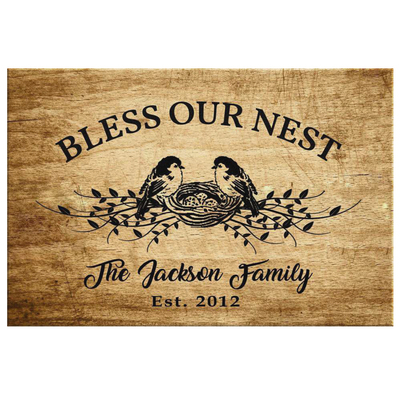 "Exclusive ""BLESSED FAMILY"" Personalized Canvas - Ustad Home"