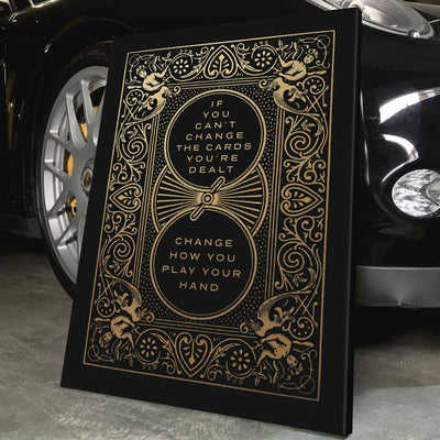 "Deluxe ""Cards You're Dealt"" Canvas"