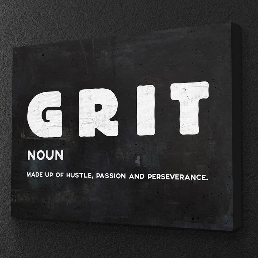 "Inspiring ""Grit"" Canvas - Ustad Home"