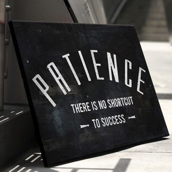 "Powerful ""Patience"" Canvas"