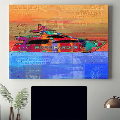 "High- Quality ""Yacht Dreams"" Premium Canvas - Ustad Home"
