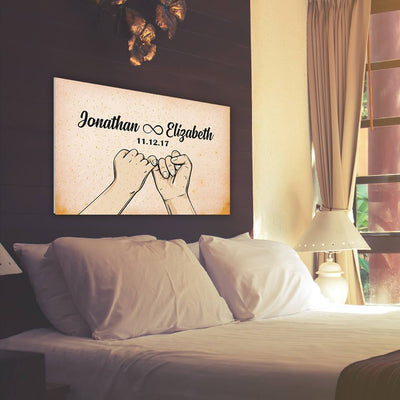 "Special ""LOVE PROMISE"" Custom Canvas"