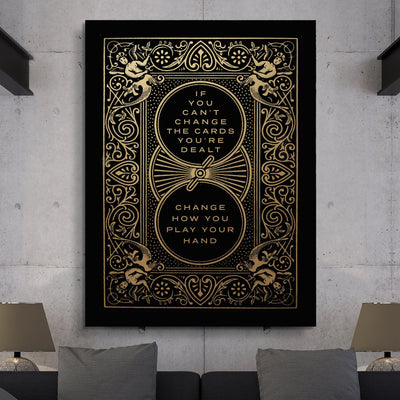 "Deluxe ""Cards You're Dealt"" Canvas - Ustad Home"