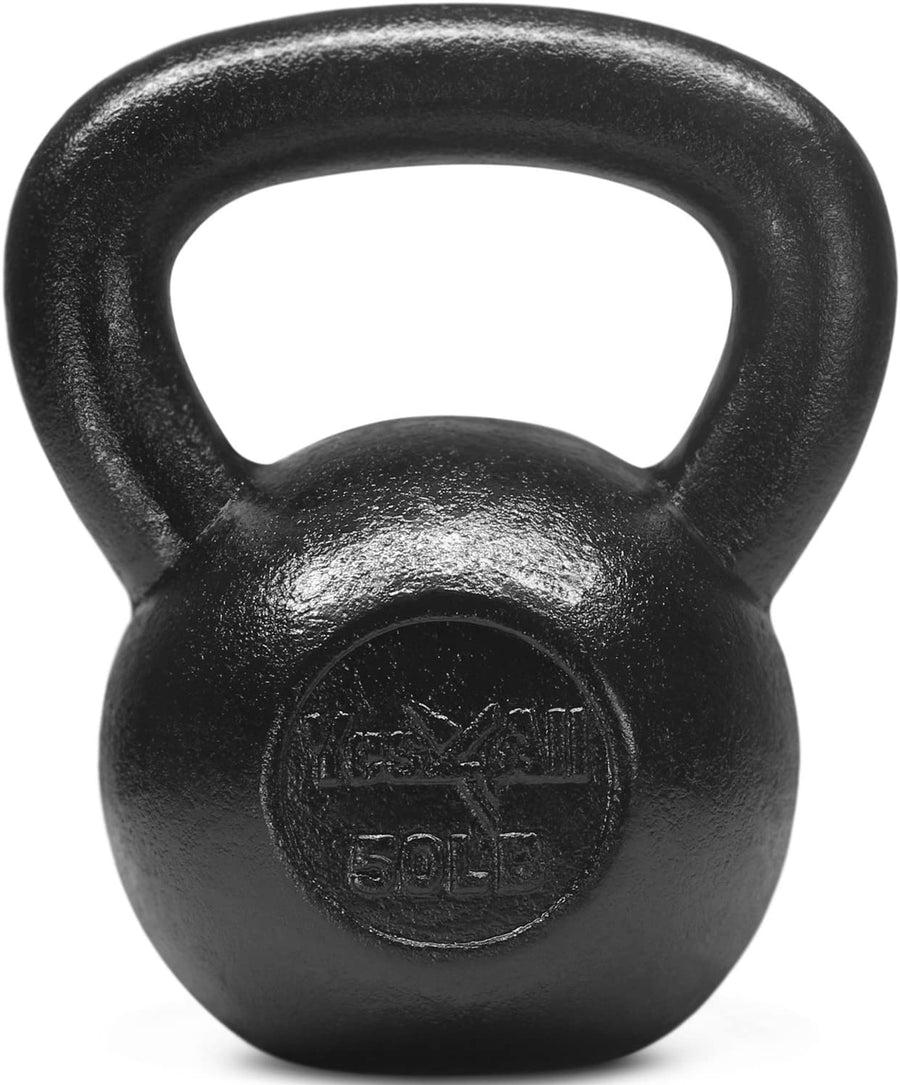 Solid Cast Iron Kettlebell 50lb set - Ustad Home