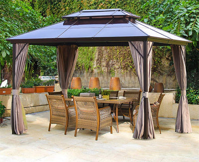 10x12ft Canopy Curtains - Ustad Home