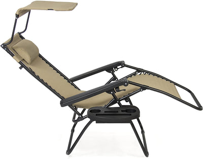 Folding Zero Gravity Lounge Chair- 2 pack - Ustad Home