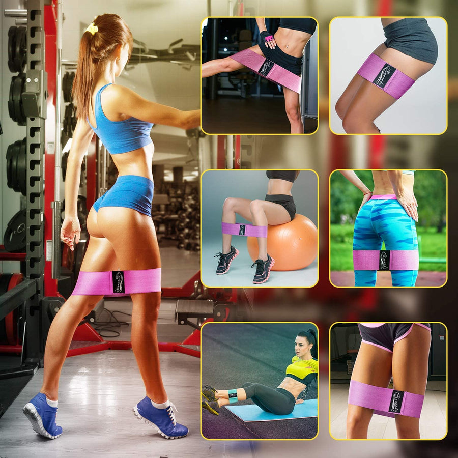Non Slip Resistance Bands for Legs and Butt- 3Pack - Ustad Home